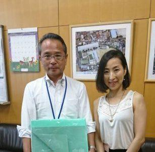 狛江市立狛江第二中学校へご挨拶に伺いました。