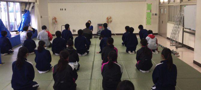 中学校0時限目に朝ヨガ第3回目@狛江市立第三中学校