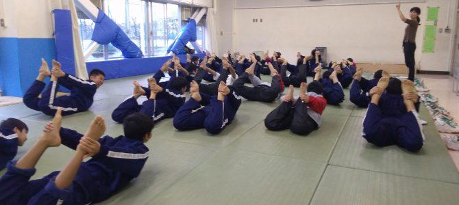中学校0時限目に朝ヨガ第5回目@狛江市立第三中学校